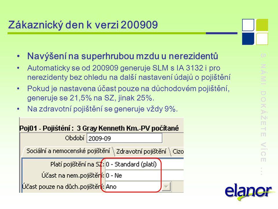 Zákaznický den k verzi 200909 Navýšení na superhrubou mzdu u nerezidentů.
