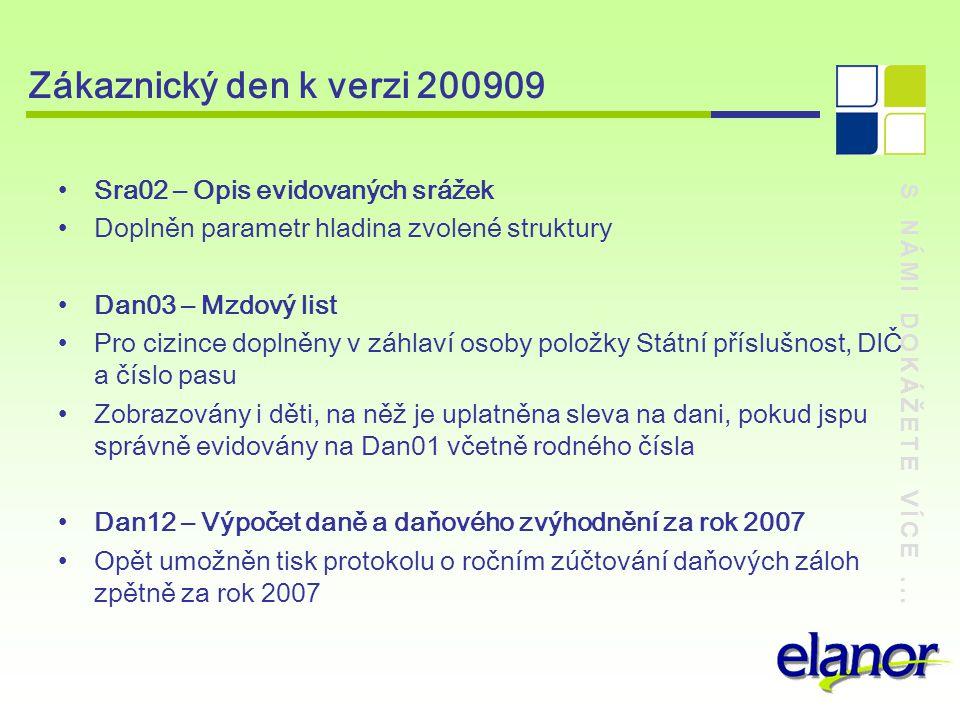 Zákaznický den k verzi 200909 Sra02 – Opis evidovaných srážek