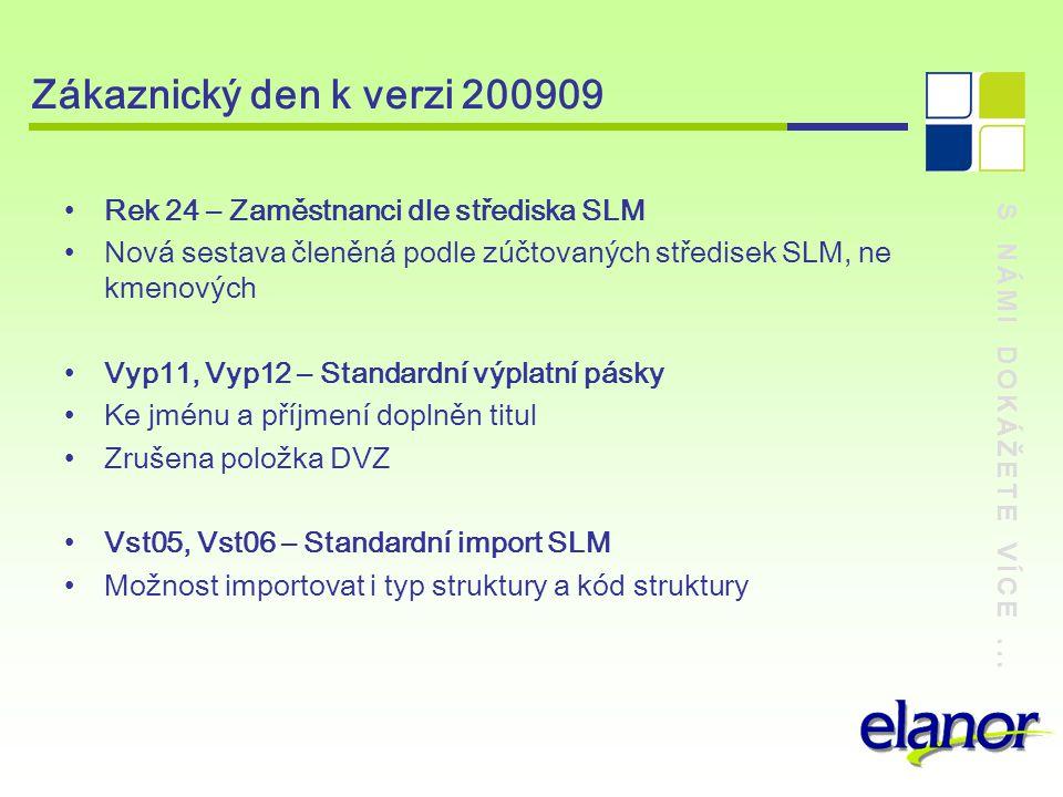 Zákaznický den k verzi 200909 Rek 24 – Zaměstnanci dle střediska SLM