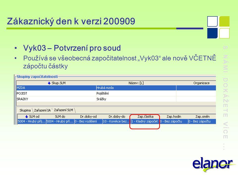 Zákaznický den k verzi 200909 Vyk03 – Potvrzení pro soud
