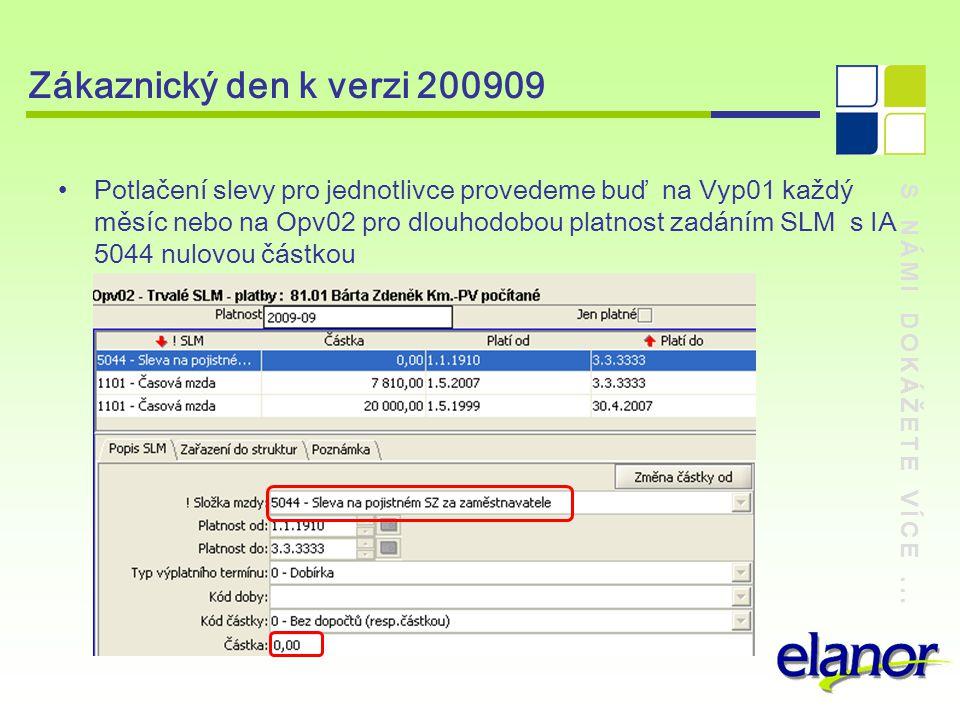 Zákaznický den k verzi 200909
