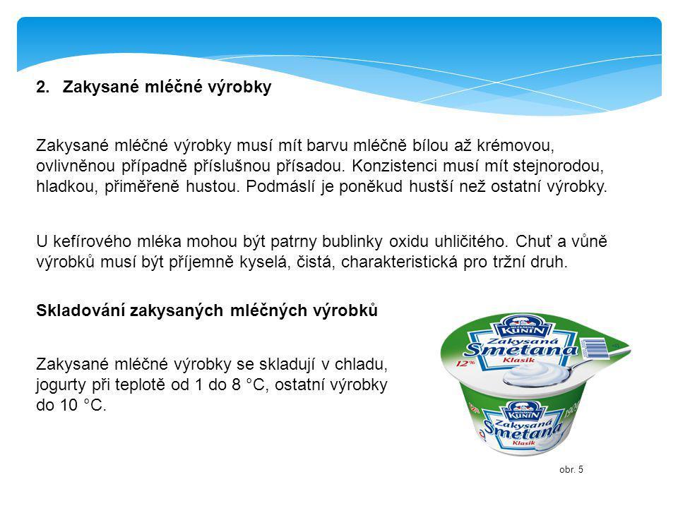 2. Zakysané mléčné výrobky