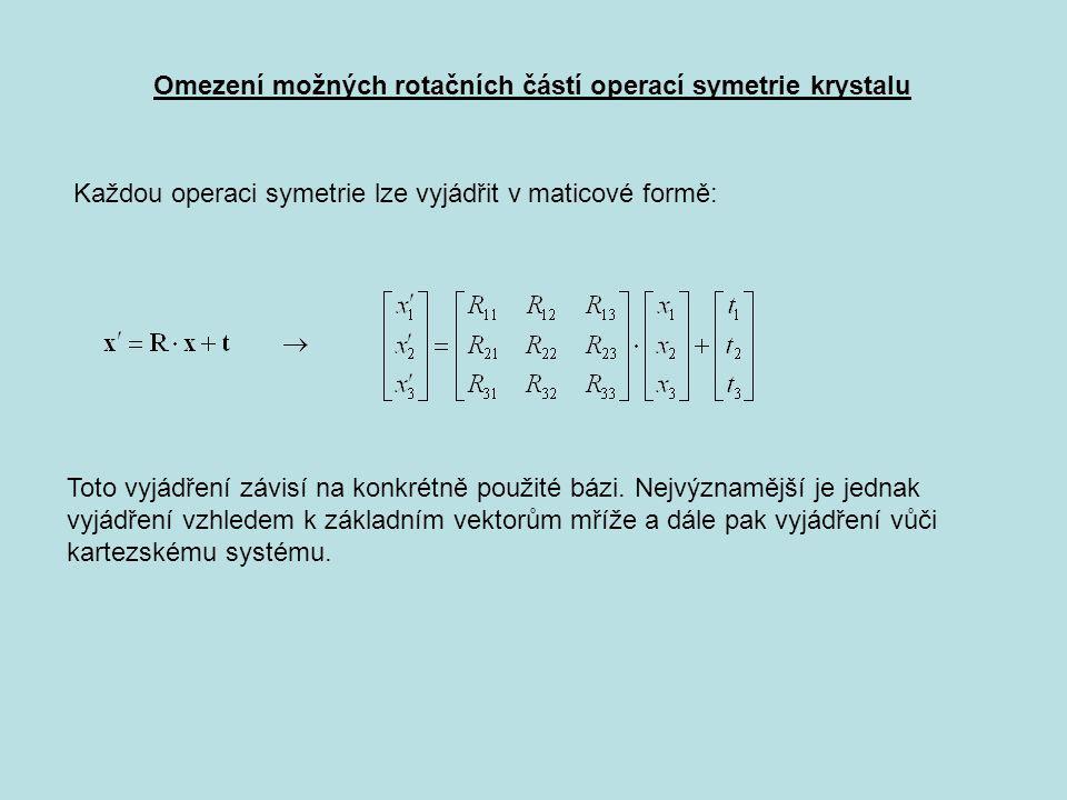 Omezení možných rotačních částí operací symetrie krystalu