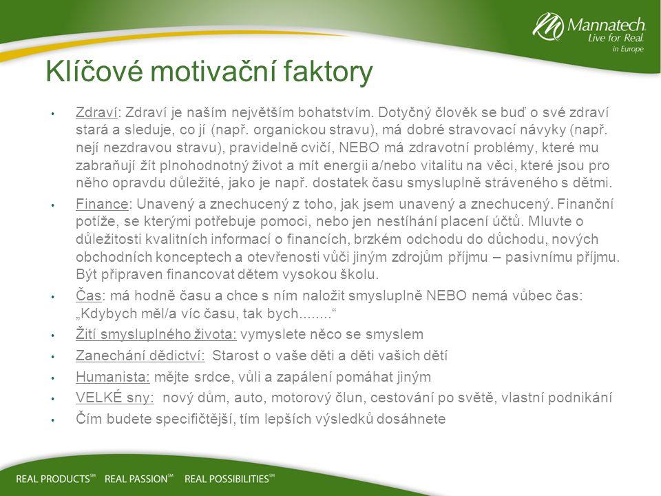 Klíčové motivační faktory