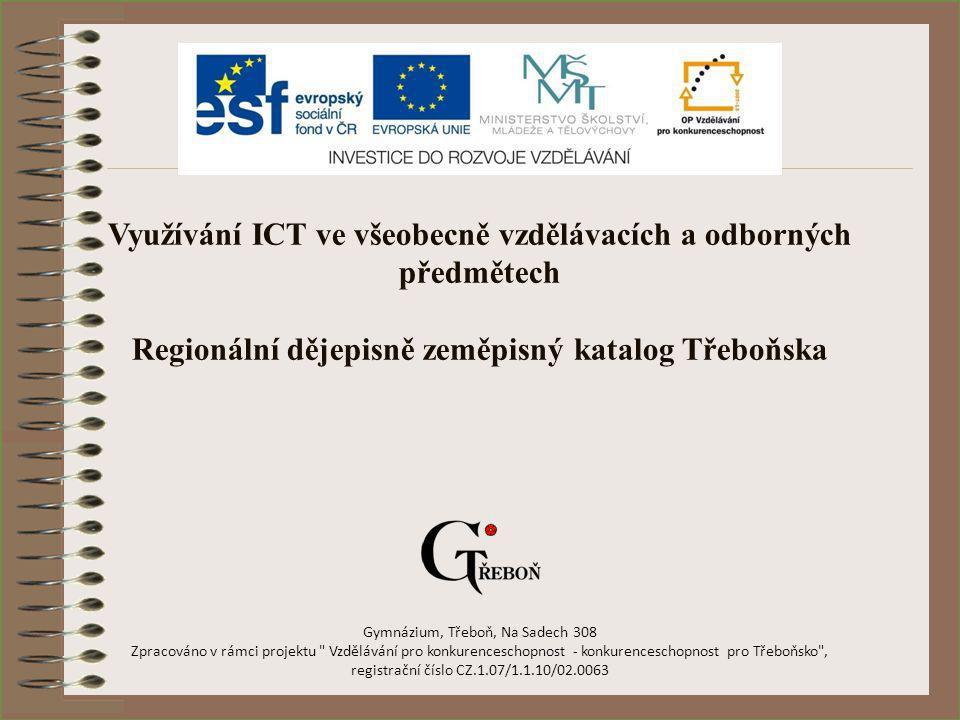 Regionální dějepisně zeměpisný katalog Třeboňska
