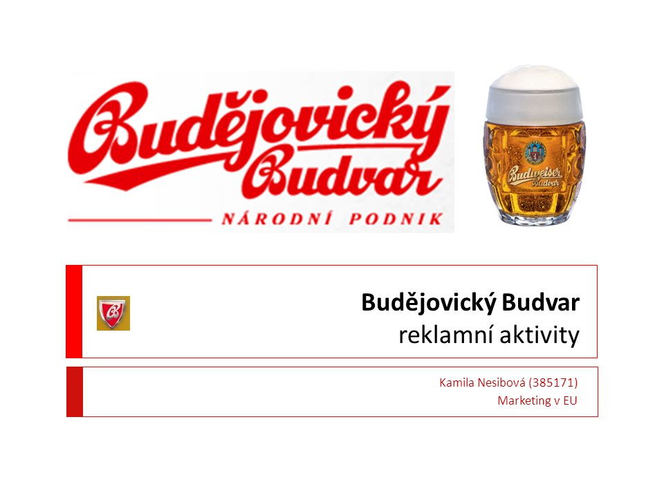 Budějovický Budvar reklamní aktivity