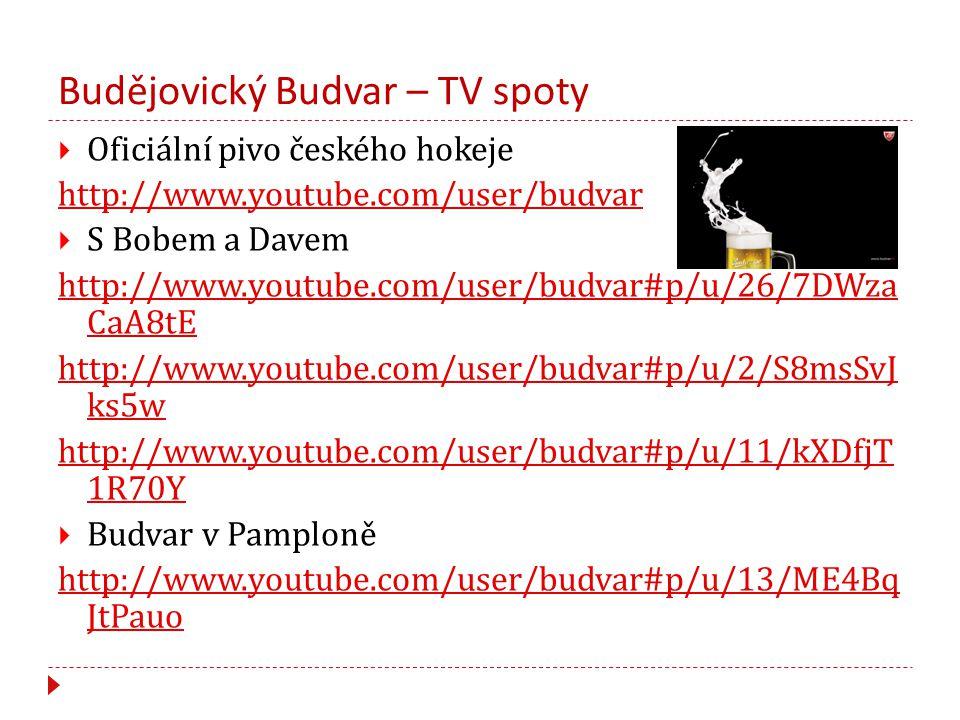 Budějovický Budvar – TV spoty
