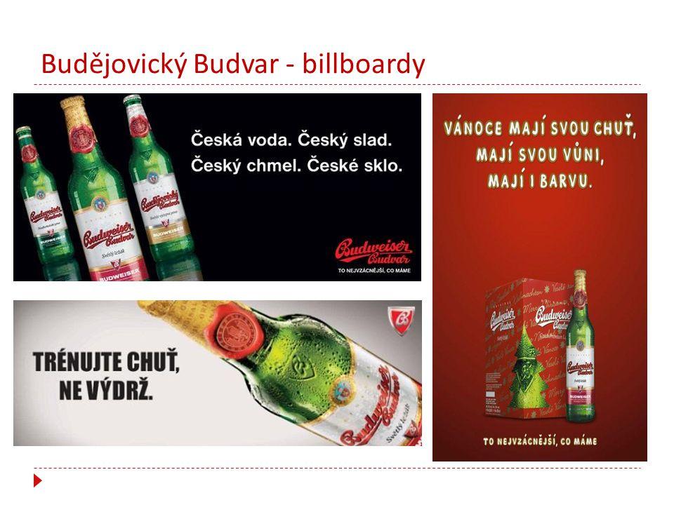 Budějovický Budvar - billboardy