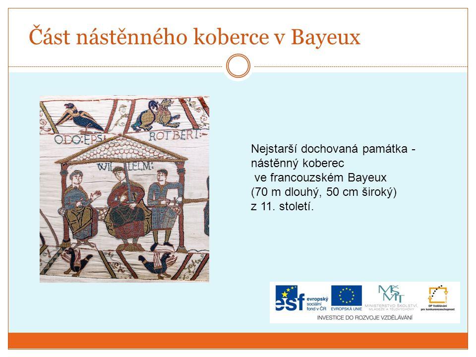 Část nástěnného koberce v Bayeux