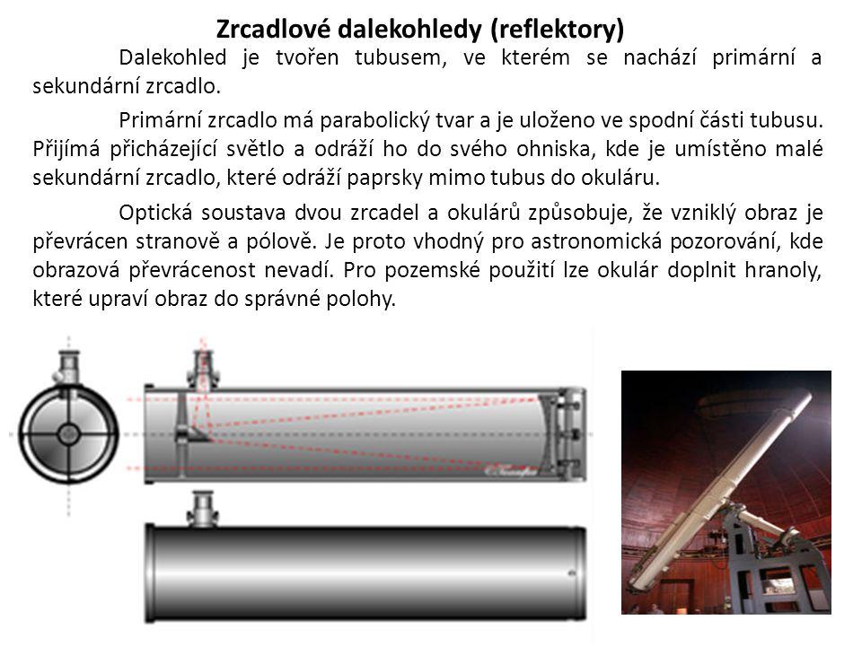 Zrcadlové dalekohledy (reflektory)