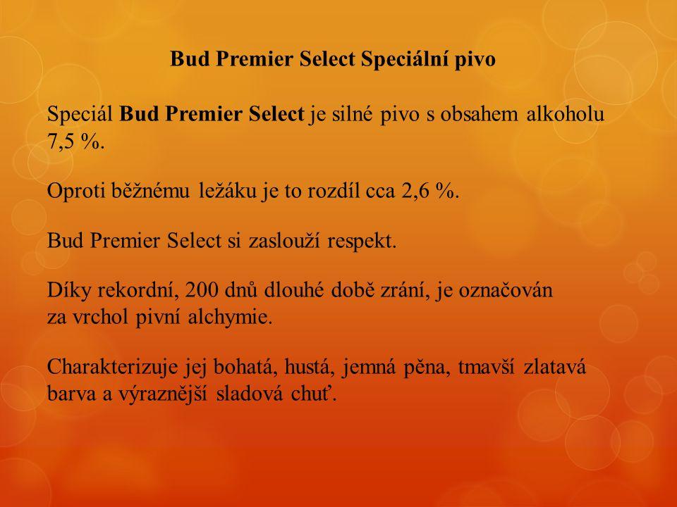 Bud Premier Select Speciální pivo