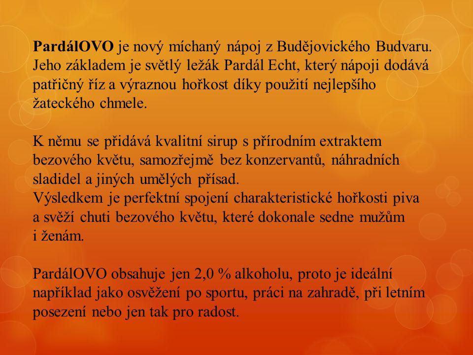 PardálOVO je nový míchaný nápoj z Budějovického Budvaru.
