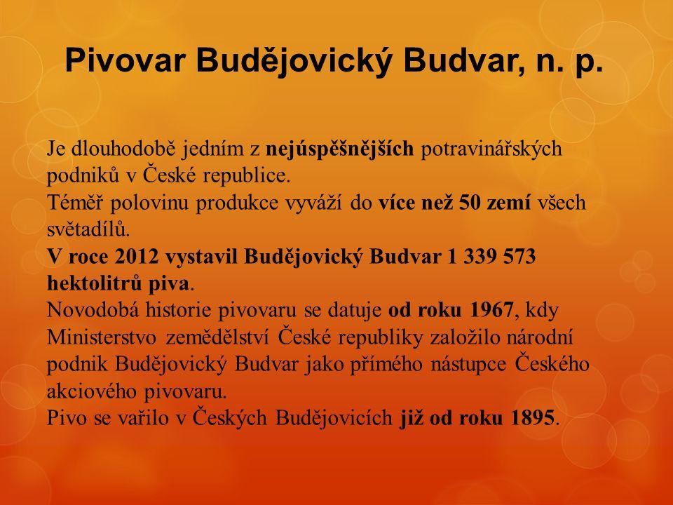 Pivovar Budějovický Budvar, n. p.