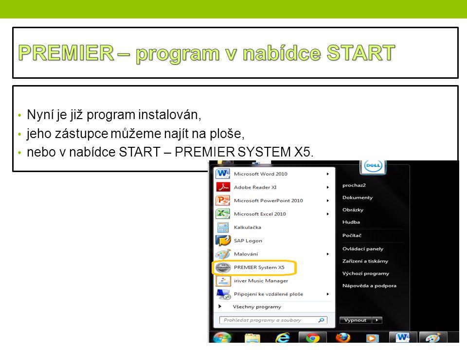 PREMIER – program v nabídce START