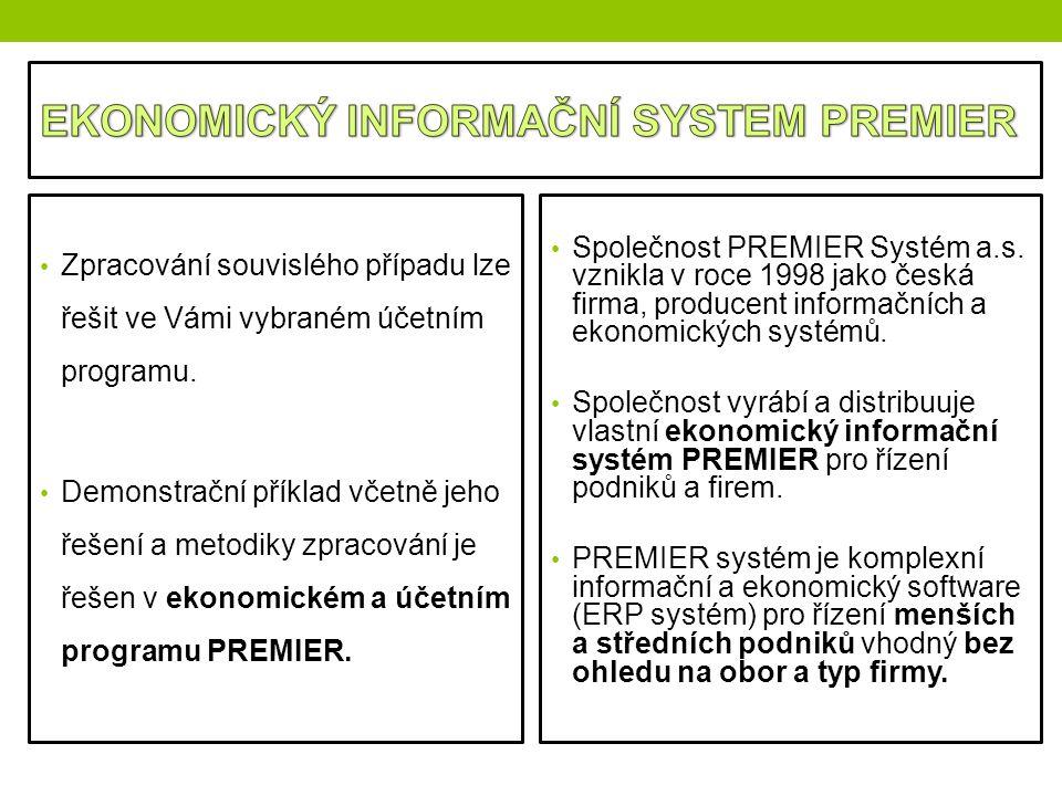 EKONOMICKÝ INFORMAČNÍ SYSTEM PREMIER
