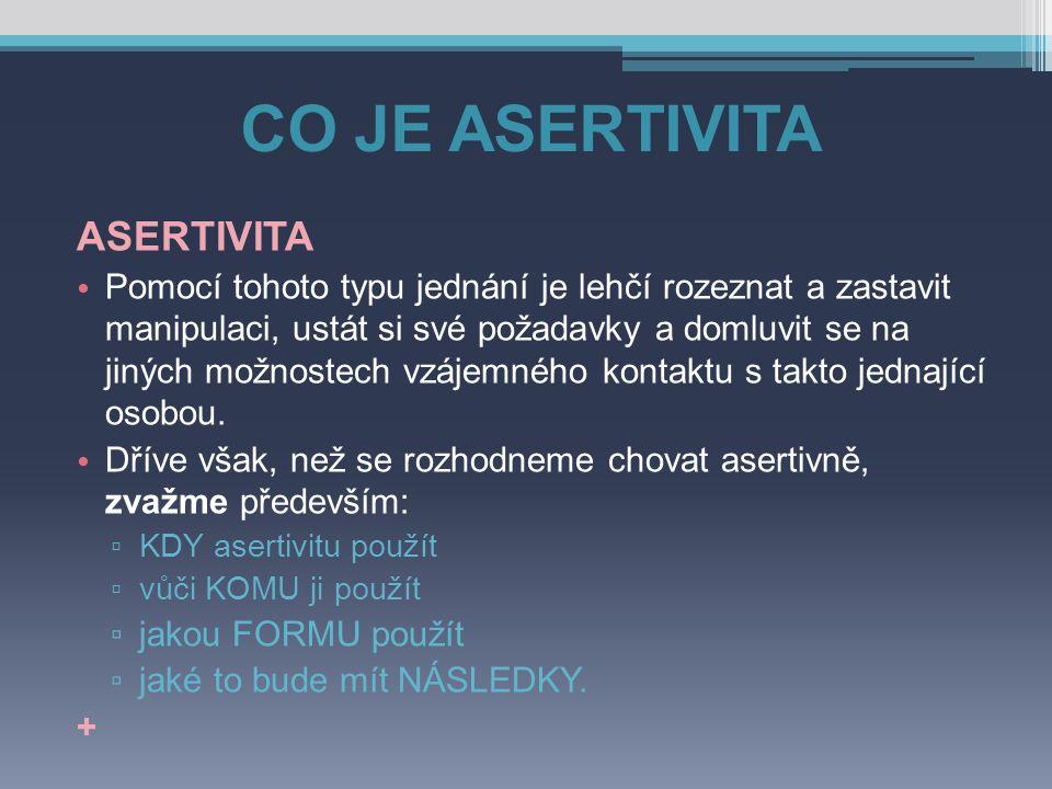 CO JE ASERTIVITA ASERTIVITA