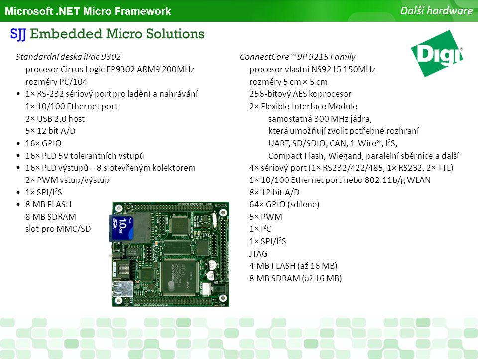 Další hardware Microsoft .NET Micro Framework