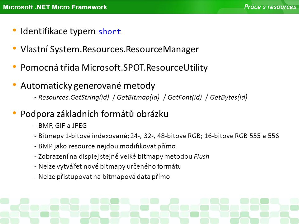 Identifikace typem short Vlastní System.Resources.ResourceManager