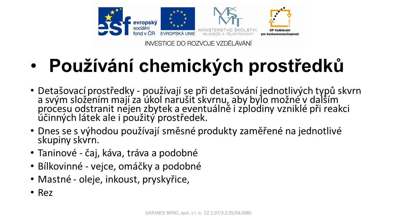 Používání chemických prostředků