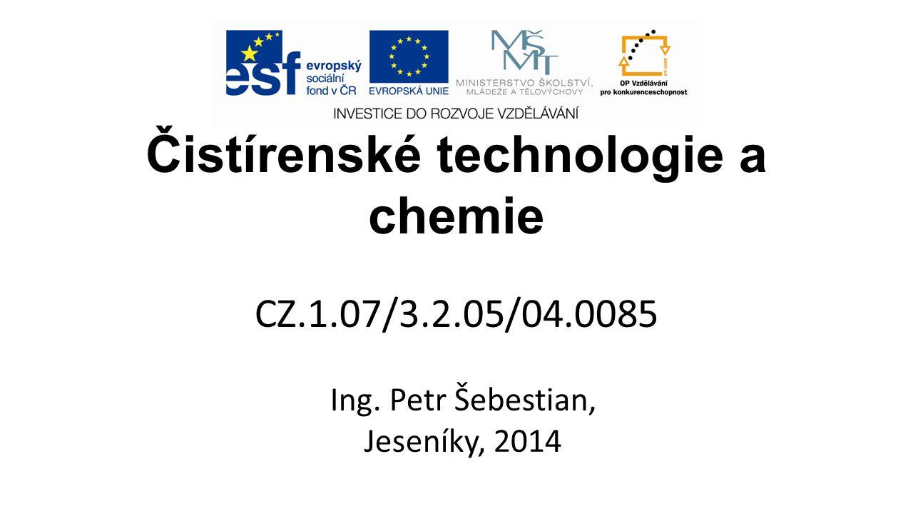 Čistírenské technologie a chemie