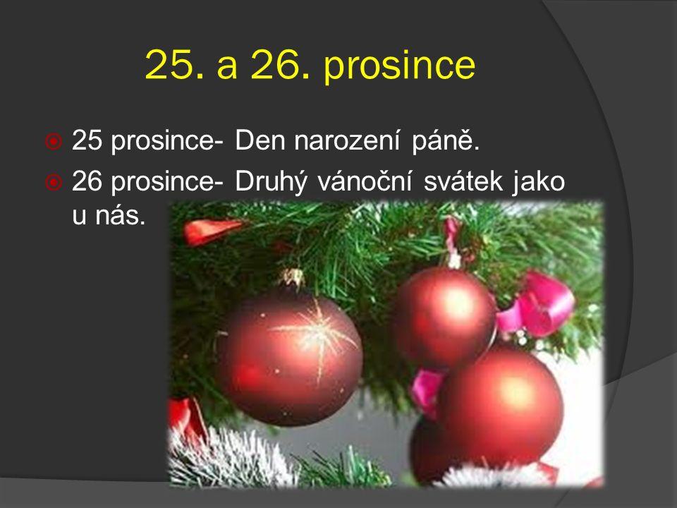 25. a 26. prosince 25 prosince- Den narození páně.