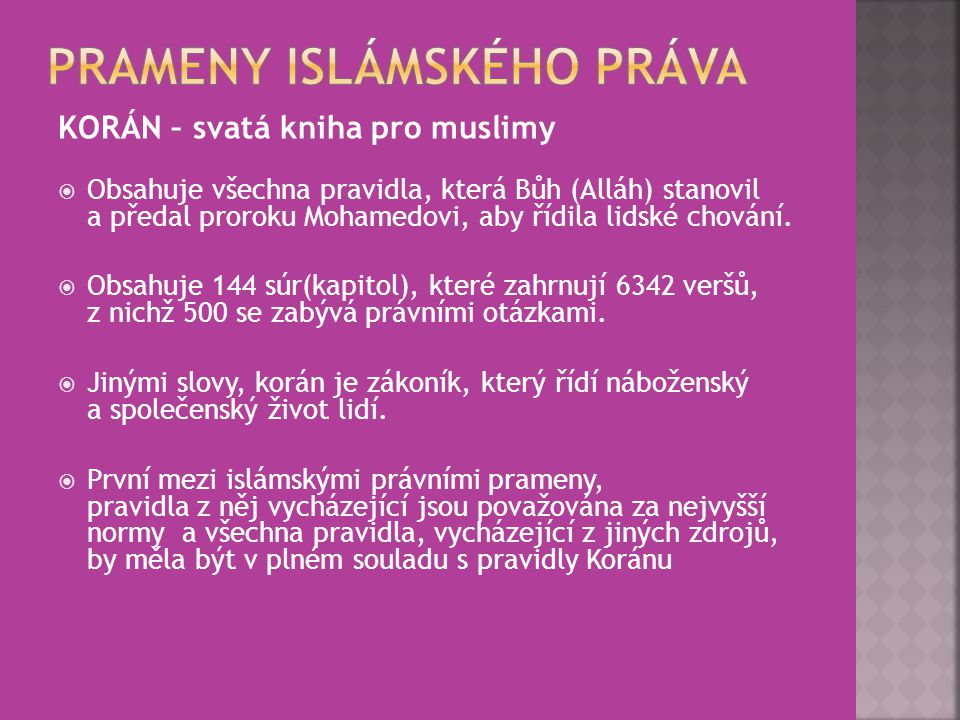 Prameny islámského práva