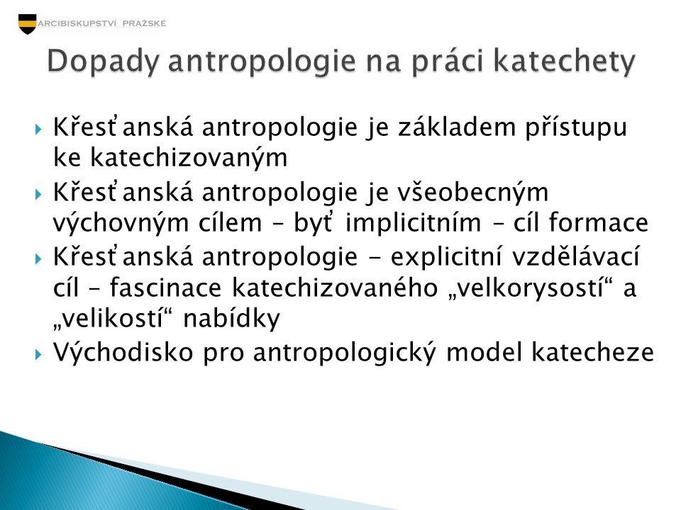 Dopady antropologie na práci katechety