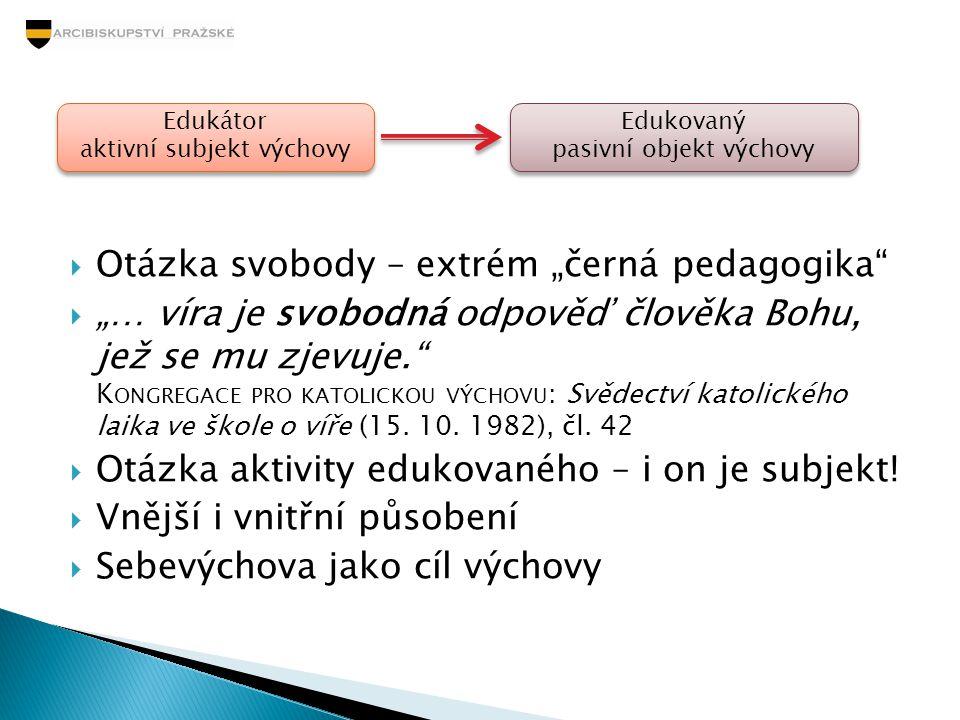 """Otázka svobody – extrém """"černá pedagogika"""