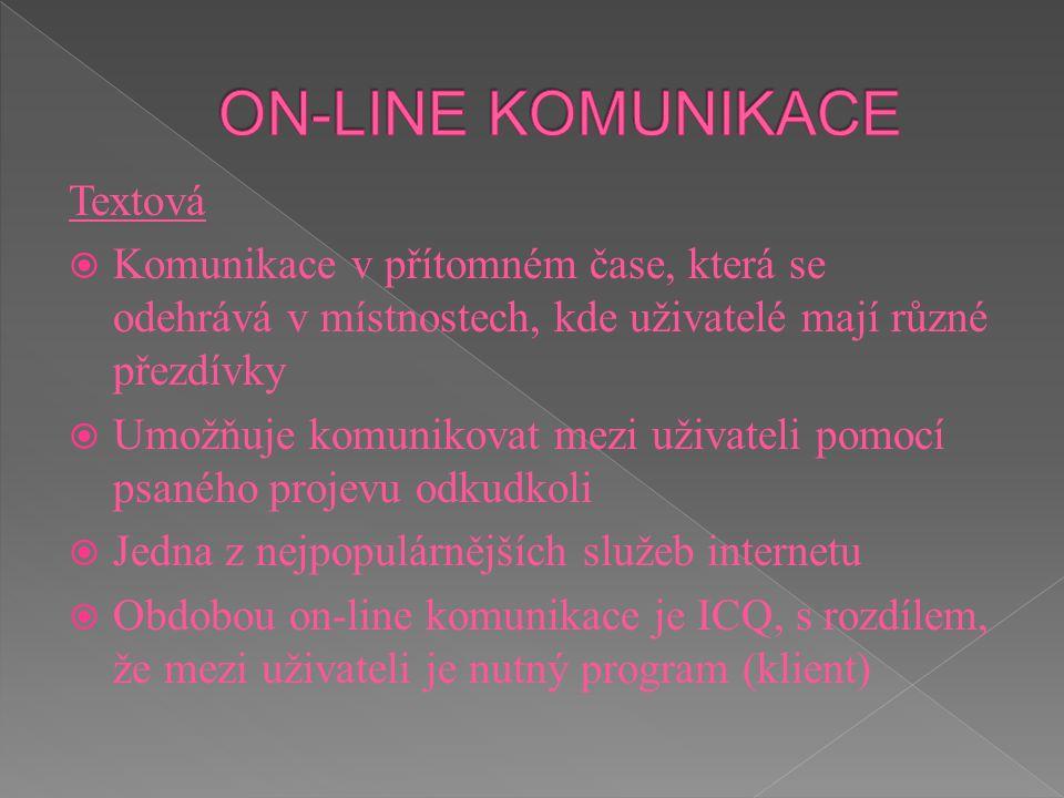 ON-LINE KOMUNIKACE Textová