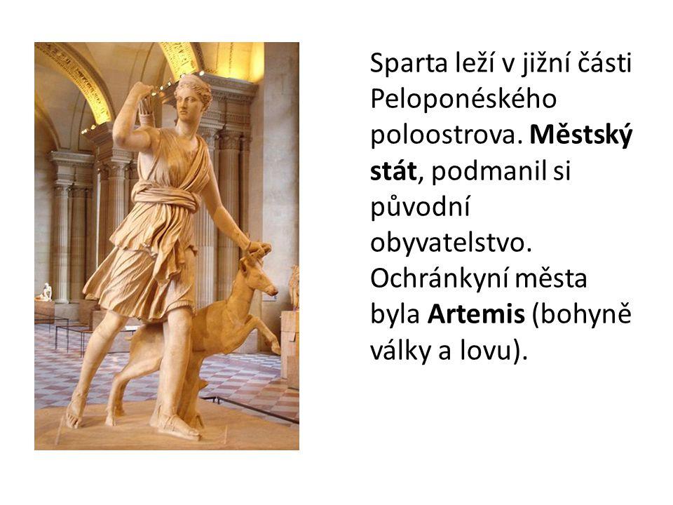 Sparta leží v jižní části Peloponéského poloostrova
