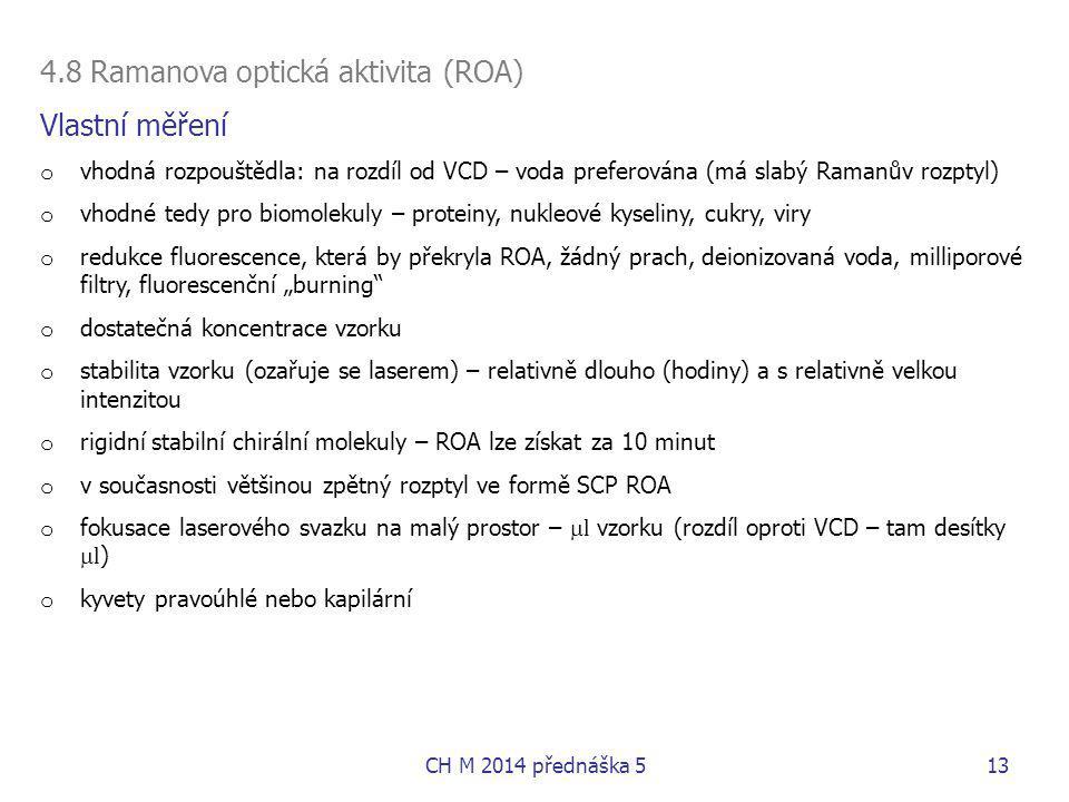 4.8 Ramanova optická aktivita (ROA) Vlastní měření