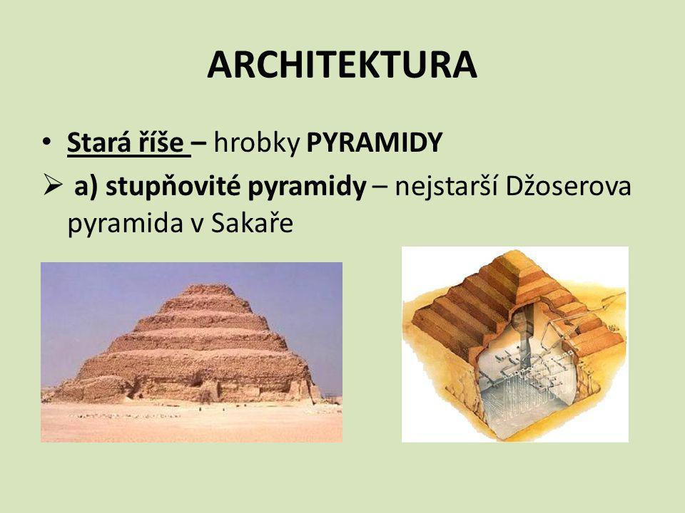 ARCHITEKTURA Stará říše – hrobky PYRAMIDY