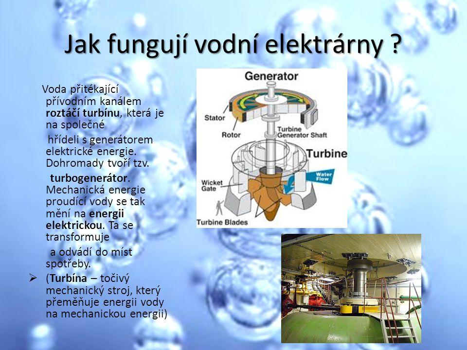 Jak fungují vodní elektrárny