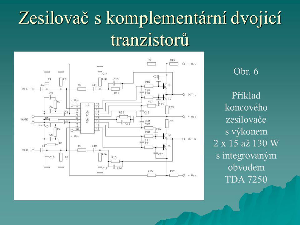 Zesilovač s komplementární dvojicí tranzistorů