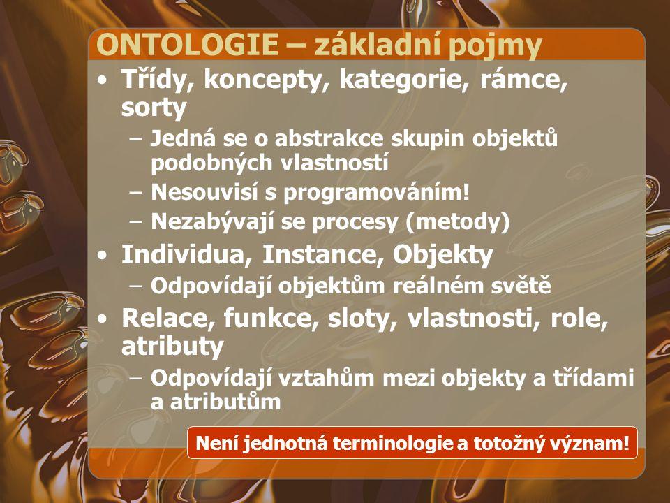 ONTOLOGIE – základní pojmy