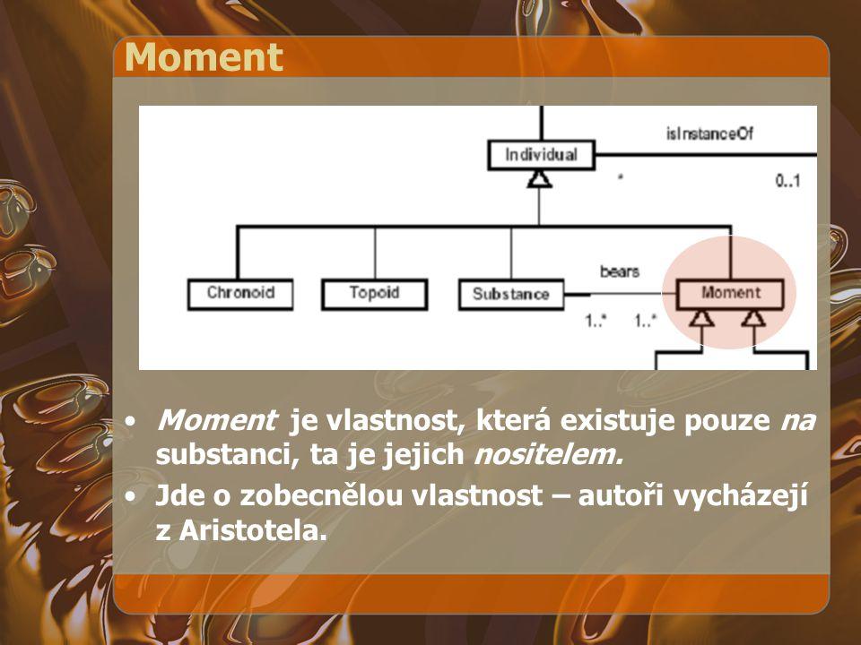 Moment Moment je vlastnost, která existuje pouze na substanci, ta je jejich nositelem.
