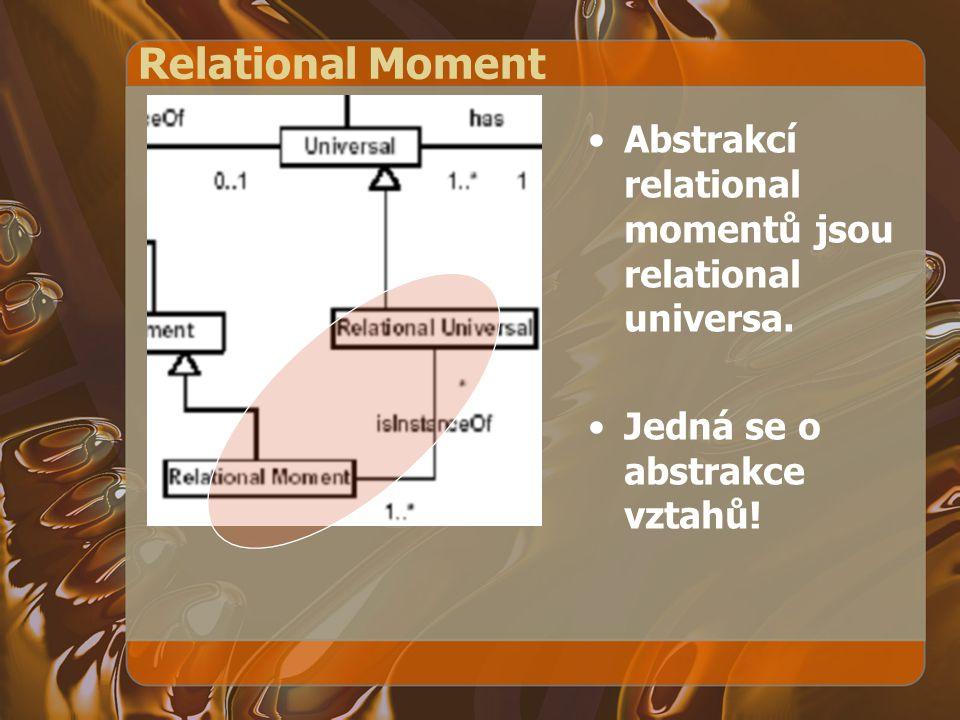 Relational Moment Abstrakcí relational momentů jsou relational universa.