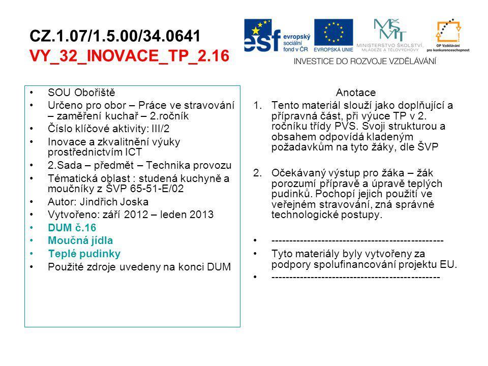 CZ.1.07/1.5.00/34.0641 VY_32_INOVACE_TP_2.16 SOU Obořiště