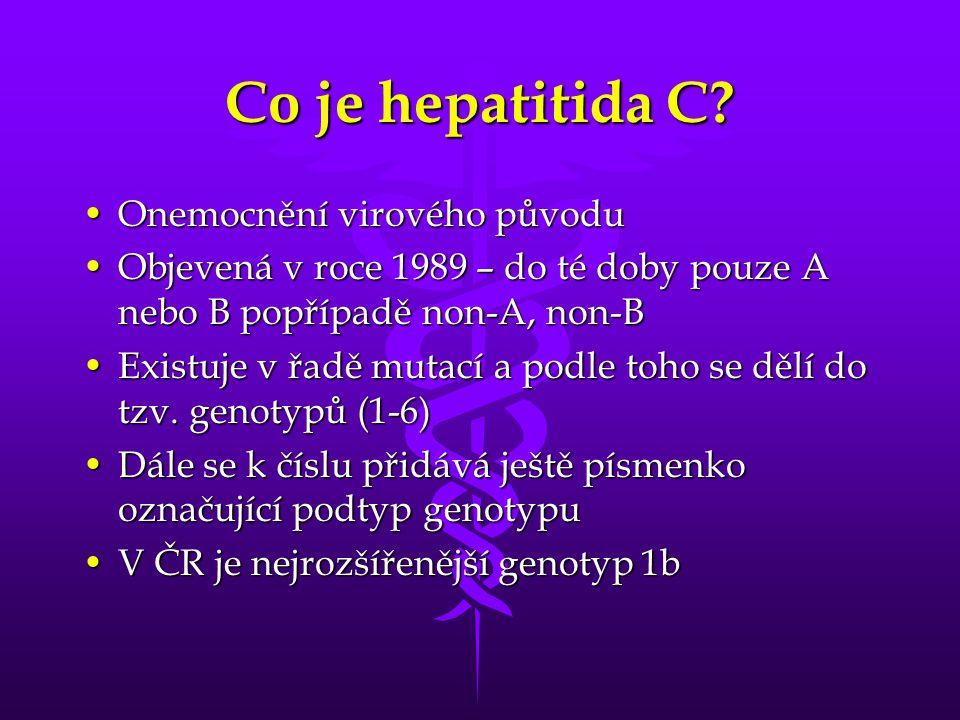 Co je hepatitida C Onemocnění virového původu