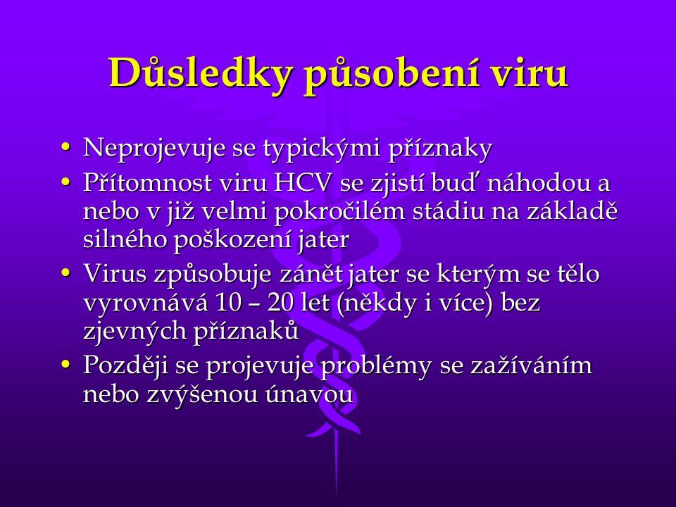 Důsledky působení viru