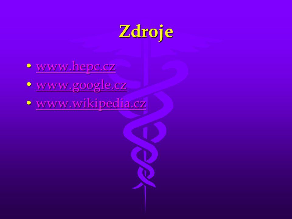 Zdroje www.hepc.cz www.google.cz www.wikipedia.cz