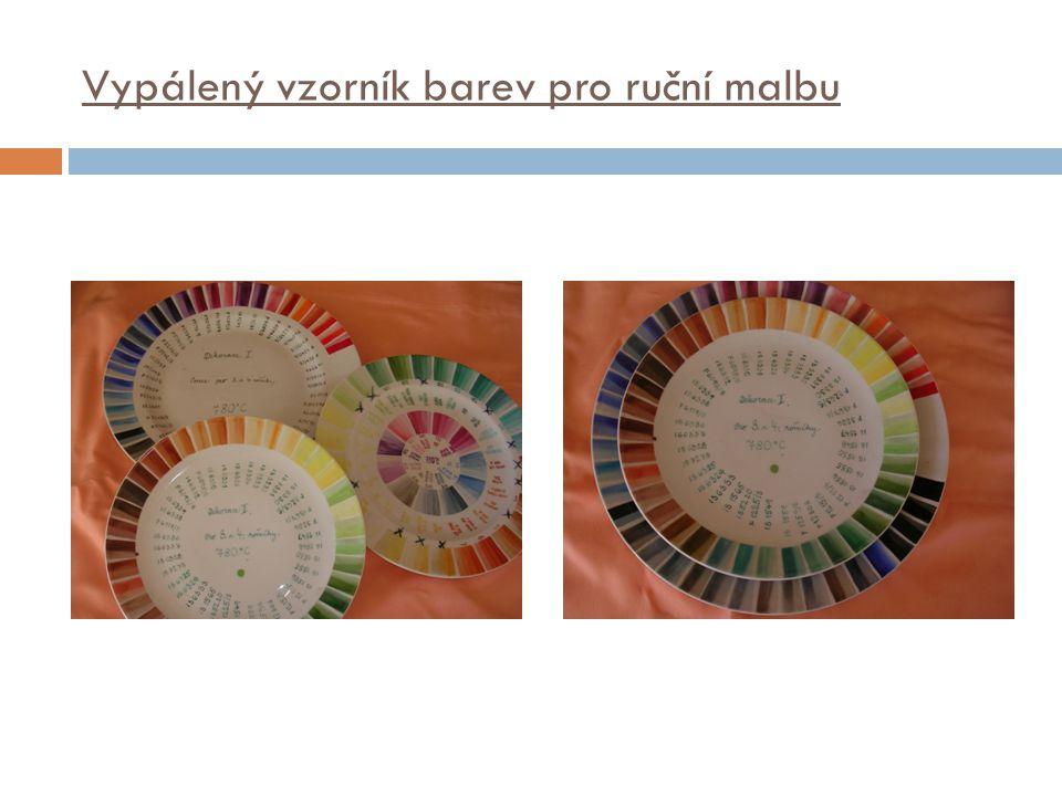 Vypálený vzorník barev pro ruční malbu