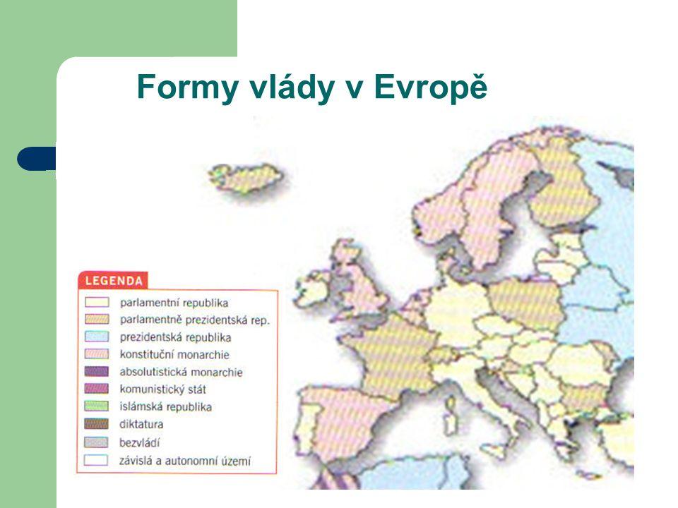 Formy vlády v Evropě