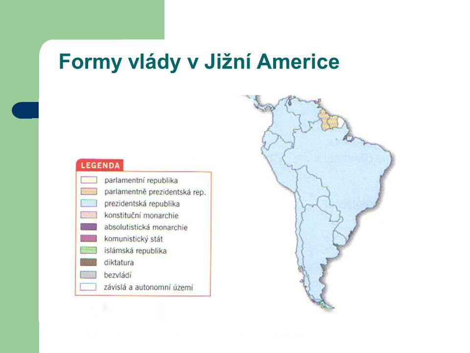 Formy vlády v Jižní Americe
