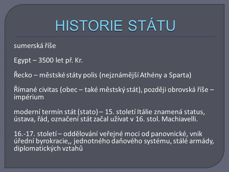HISTORIE STÁTU