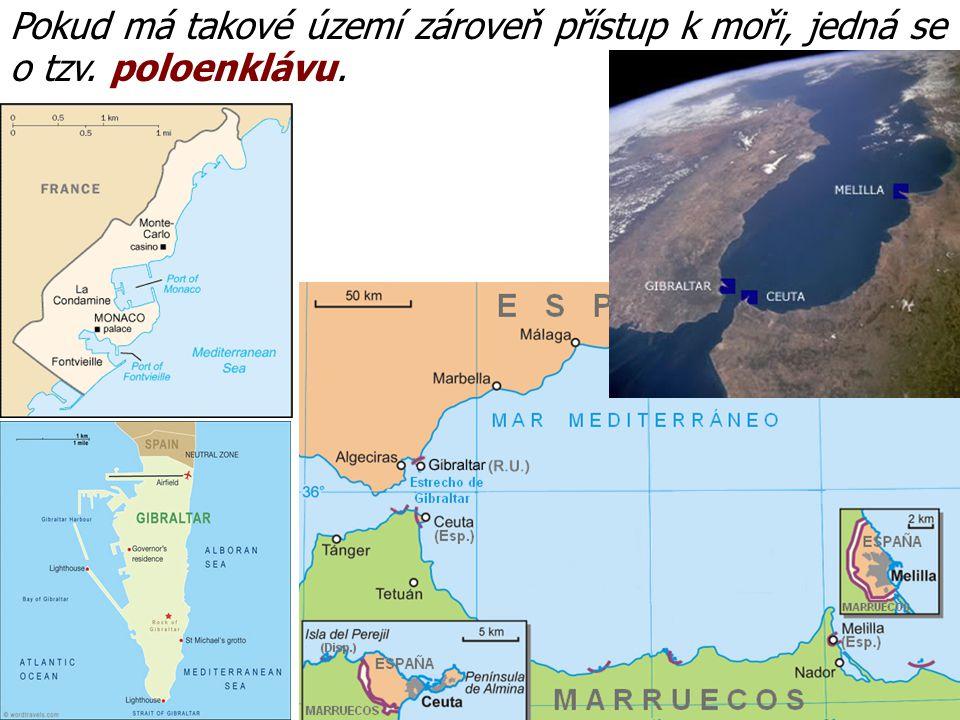 Pokud má takové území zároveň přístup k moři, jedná se o tzv