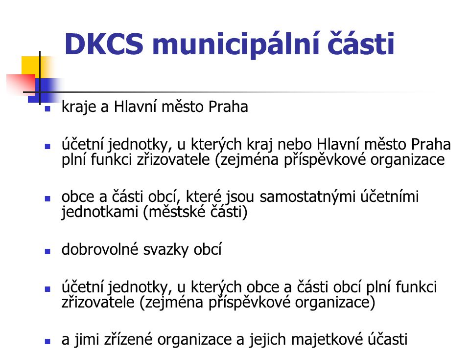 DKCS municipální části
