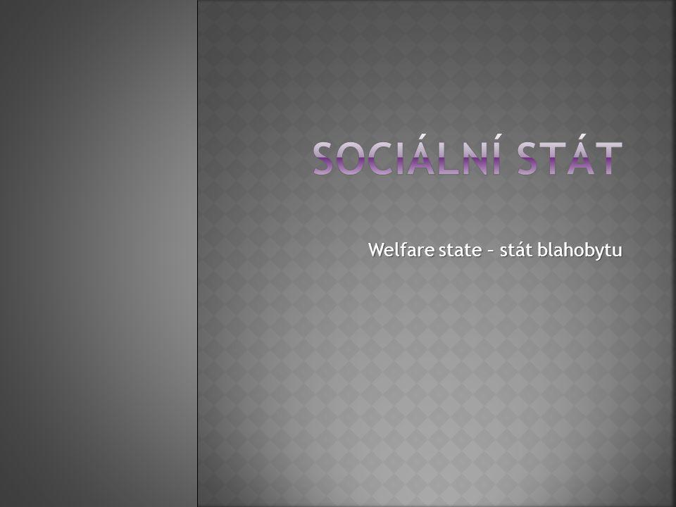 Welfare state – stát blahobytu