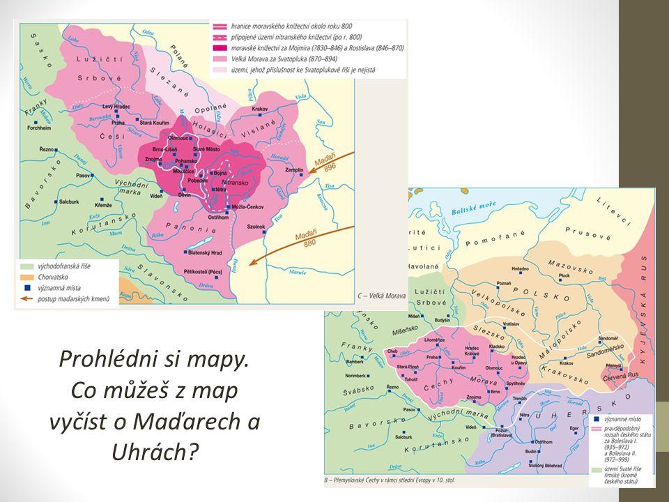 Co můžeš z map vyčíst o Maďarech a Uhrách