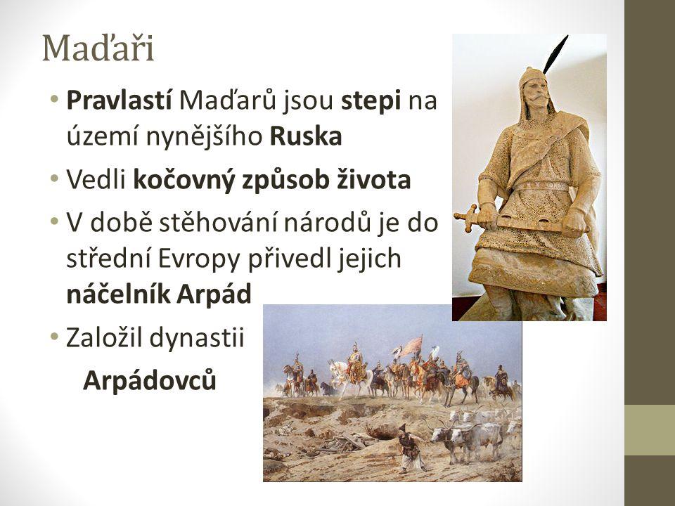 Maďaři Pravlastí Maďarů jsou stepi na území nynějšího Ruska